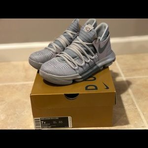 Nike Zoom KD 10 GS Cool Grey Basketball Shoes
